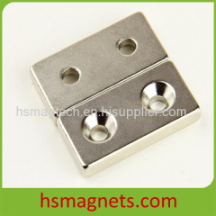 Rare Earth Neodymium Block Countersunk Magnet