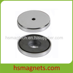 Ferrite Pot Magnet with Countersink