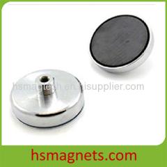 Feamale Threaded Hard Ferrite Pot Magnet