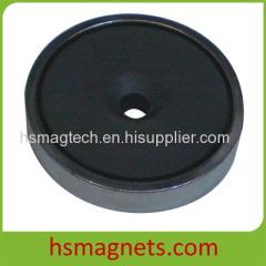 Sintered Hard Ferrite Countersunk Pot Magnet