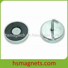Hard Ferrite Ceramic Pot Magnet with Threaded