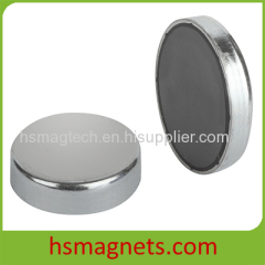 Anisotropic Sintered Ferrite Disc Flat Pot Magnet