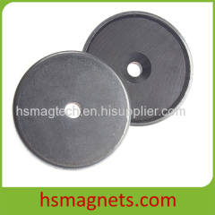 Strong Sintered Ferrite Countersunk Pot Magnet with Stainless Steel