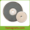 Ferrite Pot Magnets Magnetic Assembly with Countersunk Hole