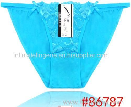 2014 New Laced cotton boyshort girl panties laced lady brief stretched cotton short pants women underwear