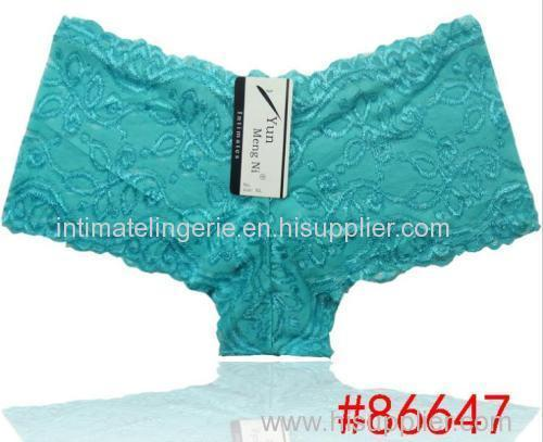 2014 new pretty lace boxer short Sheer lace hipster hot knickers sexy women underwear stretch lady panties