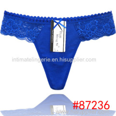 2014 new Laced cotton lady thong hot g-string sexy Underpants girl t-back lady panties women underwear