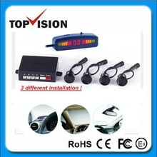 wireless ultrasonic parking sensors with LED display and beep or voice alarm