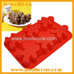 Food grade silicone gingerbread men shape cake mold