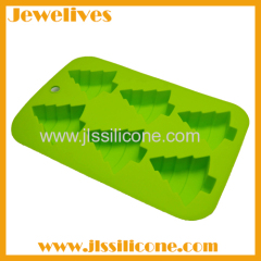christmas tree shape silicone bakeware