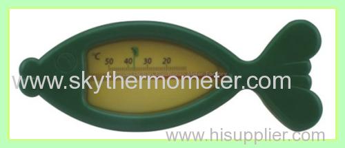 Round insert type thermometer