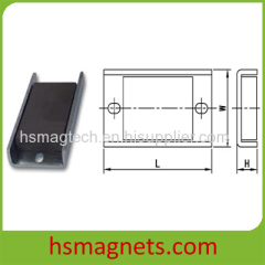 Sintered Hard Ferrite Ceramic Channel Magnets