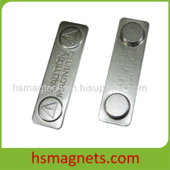 Silver Painted Magnetic Name Badge