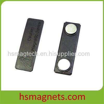 Pewter Permanent Magnetic Name Badge Holder