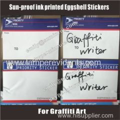 UV or sun proof mail eggshell vinyl stickers