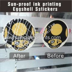 2 spot colors sun proof printing eggshell viny sticker labels