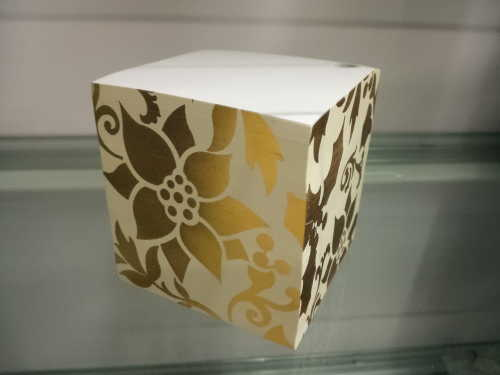 glitter Flora memo cube