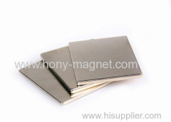 Ni coating sintered strong magnet sheets