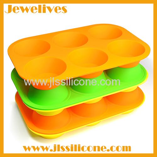 6 cavities silicone cake mold china