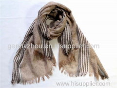Polyester woven scarf for Autumn