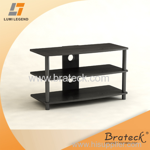 Black Economy Wood and Metal TV Stand Furniture