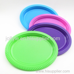 disposable colorful round plates