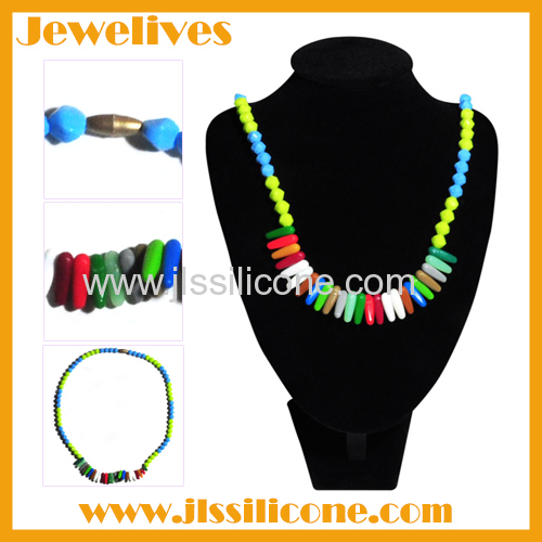 LFGB loose silicone beads necklace
