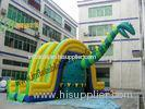 Combo Dinosaurs Jumping Inflatable Bouncy Slide With 2.5cm Joint Part