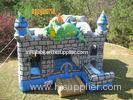 Dragon Garden 3 In 1 Inflatable Combo , Party Castle Bounce House For Kids
