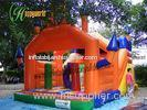 Giant Inflatable 3 In 1 Combo Playground , Moonwalk Bounce Houses Combo
