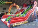 Super Spider Man Commercial Inflatable Slide / Giant Bouncy Slide To Rent