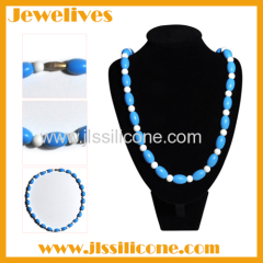 silicone pendant teething wholesale 2 shape beads