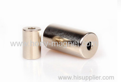 Cylinder neodymium magnet with small hole