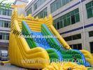 EN14960 Big Wave Yellow And Green Durable Inflatable Slide For Adult Inflatable Games