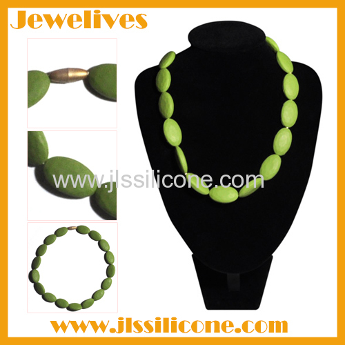 silicone chewing necklace for babies