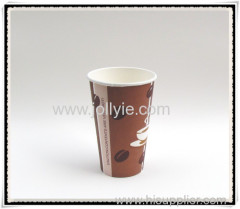 Hot disposable paper cup