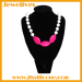FDA silicone rubber necklace cord 2 shape beads