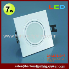 7W CE RoHS SMD grille lighting