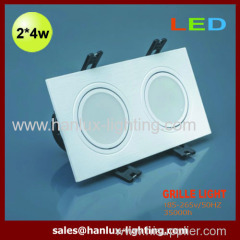 8W CE RoHS SMD grille lighting