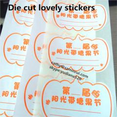 fashion cutting sticker design