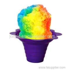 8 oz snow cone shave ice flower cup variety color