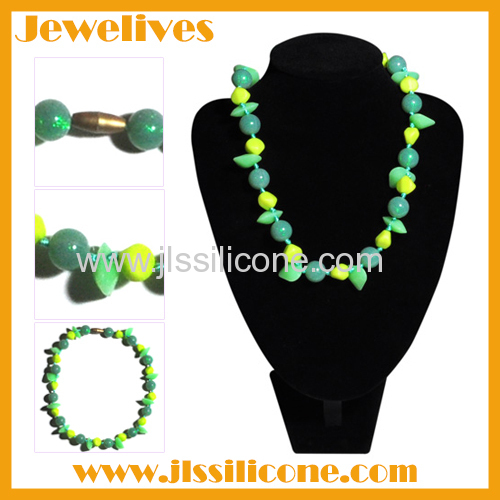 silicone necklace for baby chewing