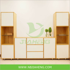 Bamboo Storage Living room Cabinet with snow panel