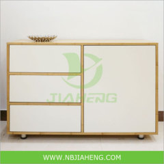 Bamboo Cabinet 3 three drawers with snow panel