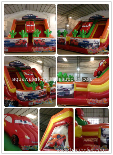 Inflatable Car Double Lane Slide