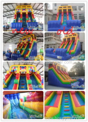 Inflatable Gift Double Lane Slide