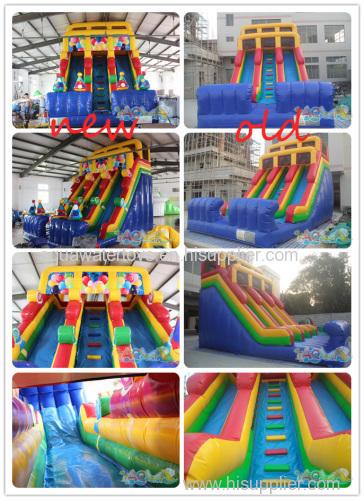 Inflatable Gift Double Lane Slide