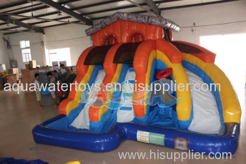 Inflatable Splash Island Water Slide
