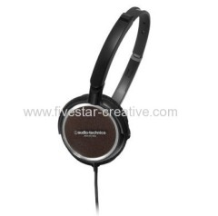 Audio Technica ATH-FC700 Fold-up Lightweight On-Ear Black Headphones