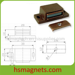 Brown Permanent Magnet Magnetic Door Stopper Catcher